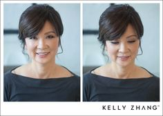 natural and beautiful makeup & hair for the lovely mother-of-the-bride by | erica #kellyzhang #kellyzhangstudio #makeup #hair #natural #beautiful #motherofthebride