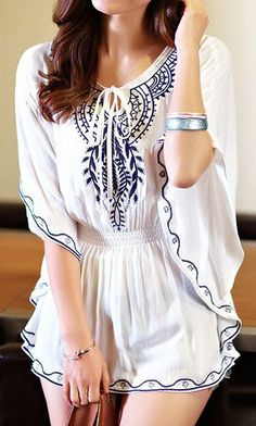 white butterfly sleeve top