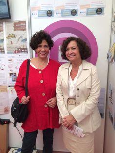 Visitantes ilustres en las #JRE16 la Rectora Pilar Aranda junto a María José Ariza Directora de la Biblioteca Universitaria #bibliotecaugr