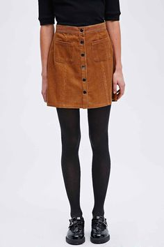 Cord Button Front A-Line Skirt | Cord, Topshop and Clothing