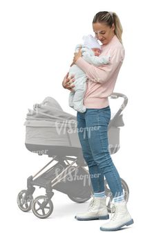 cut out woman standing and holding a little baby Cut Out People, Woman Standing, Little Babies, Baby Strollers, Children, Women, Baby Prams, Young Children, Boys