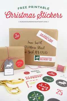 Free Printable Christmas Stickers make holiday wrapping an packaging easy and fun! Simply download these free designs