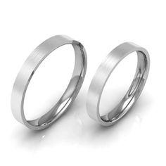 Hohe Qualit t 4 Farbe 2 MM D nne Paar Ring Fingerring Hochzeit Schmuck Prima