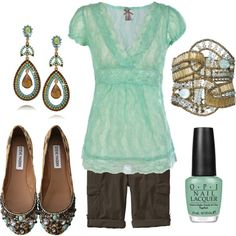 Tranquil Turquoise, created by tammietoo2 on Polyvore
