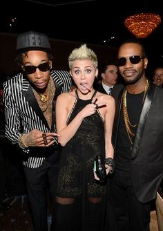 Wiz Khalifa, Miley Cyrus And Juicy J | GRAMMY.com