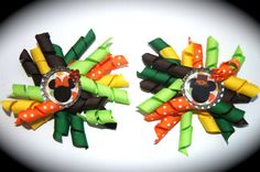 Minnie Mouse Thanksgiving korker Hair Bow