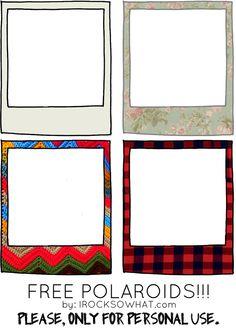 free polaroid frames from irocksowhat.com!