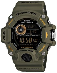 """The RANGEMAN GW-9400The RANGEMAN GW-9400 watches are the latest additions to the """"Master of G"""" series and provide functions, construction and operability designed to support the wearer, even in survival situations. The new watches incorporate triple sensors to measure compass bearing, altitude/atmospheric pressure, and temperature—a first for a G-SHOCK watch"""