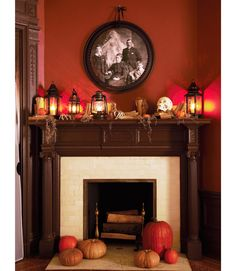 Looking like something from Dark Shadows, this haunted portrait will cause startled partygoers to do a double take.  To make, just download the supernatural picture, enlarge at a copy shop, and hot-glue to a painted plastic ceiling medallion — cheaper than a frame — from the home-improvement store.   - GoodHousekeeping.com