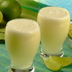 Brazilian Lemonade...actually made with limes and a touch of sweetened condensed milk for a rich creaminess.