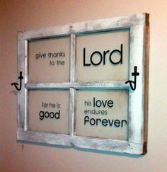 old window...Give thanks to the Lord #uppercaseliving #oldwindow #peggysfrontporch