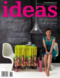 Would be cool to write teaser on the chalkboard wall. Magazine cover ideas