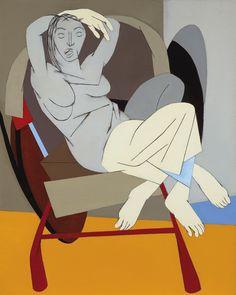 Tyeb Mehta Untitled (Figure on Rickshaw), oil on canvas