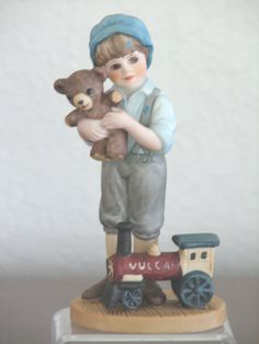 "Jan Hagara Porcelain Figurine ""BRIAN and CINNAMON"" #182 Artist Signed   eBay"