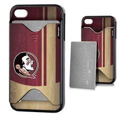 Florida State Seminoles Apple iPhone 4/4s Credit Card Case
