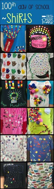 Do you need ideas for the 100th day of school.  Check out these cute shirts designed for our first grade classroom.  Read about the reading, writing, math, and crafts we did for the 100th day of school.