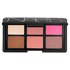 NARS, Danmari All About Cheeks Palette.  The ultimate authority in blush, this limited-edition mirrored holiday NARS compact features the essential blush and bronzer shades, ranging from warm bronze and luminous highlighting hues to shockingly bright pink. Turn a new cheek with this fashion-forward mix created exclusively for Sephora. $65