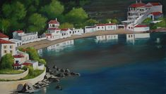 Nagos beach Chios acrylic on canvas
