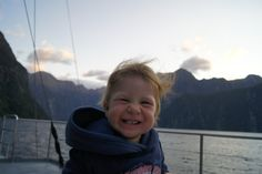 A young guest feeling particularly happy about his overnight trip on the Milford Mariner! Fantastic pic from Tobias Neumann