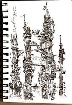Love this doodle! Our Artful Life: Doodles: Tower of City