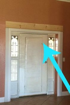 A homeowner updates her front door. She lays wood over the top, but then she does THIS!