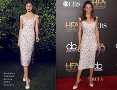 Hilary Swank In Nicholas Oakwell Couture  – 2014 Hollywood Film Awards