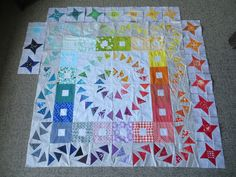 Possum Magic round robin quilt progress