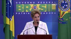 Sem citar nomes, a presidente Dilma Rousseff fez nesta terça-feira (12) um duro discurso contra os opositores. Dilma falou pela primeira vez depois da aprovação do relatório que pede o impeachment dela.