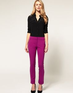 ASOS Slim Pant With Jet Pocket in Hollyhock $35.81