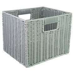 Room Essentials Woven Resin Storage Cube - Assorted Colors - in Ebony
