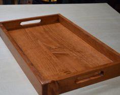 Wooden Serving Tray; Ottoman Tray; Breakfast serving Tray; Rustic Wooden Tray; Wooden Lap Serving Tray