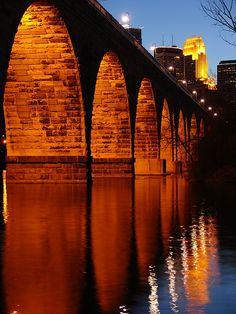 Minneapolis from the Stone Arch Bridge by rrazor, via Flickr