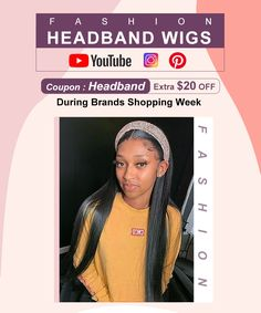 100% most popular headband wigs from Dolago Headband Wigs, 100 Human Hair Wigs, Lace Wigs, Wig Hairstyles, Black Women, Popular, Color, Colour, Lace Closure