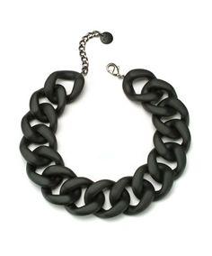 Black Matte Necklace Designed by PONO