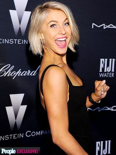 It's Never Too Early for an Oscar Party! What's Already Happening in Hollywood | LAUGH TRACK | She's ready for a good time! Julianne Hough cracks up as she arrives to Saturday night's Weinstein Company pre-Oscar party at Montage Beverly Hills, sponsored by Chopard, DeLeón Tequila, Fiji water and M.A.C cosmetics.