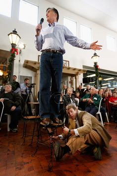"""Romney's gusto for standing on things allows him to show off a down-to-earth side of himself. It says, """"Maybe I'm not the presidential contender you want to drink a beer with, but I'm not too rich to stand on your cooler."""""""