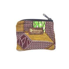 41a1c0a1a8a471 Dsenyo Fair Trade Change Purse - Green Geometric