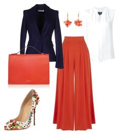 """""""All Business"""" by kmags4 on Polyvore featuring Derek Lam, Warehouse, Les Copains, Christian Louboutin and Marni"""