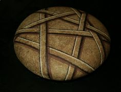 Hand Painted Rock Art  Decorative Natural Colored by amylenore, $25.00