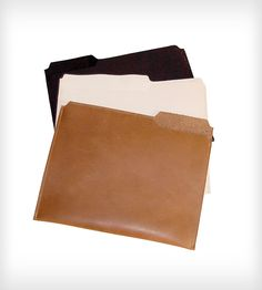 Leather folders. WANT!