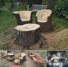 Posezení ze dřeva