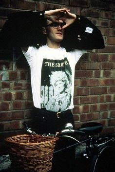 Morrissey of The Smiths during the shoot for 'Stop Me If You Think You've Heard This One Before' /'I Started Something I Couldn't Finish' (Manchester, October 1987) -- image via Tumblr /trueshoe