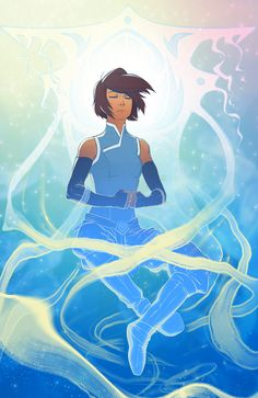 Raava and Avatar Korra-Avatar the Last Airbender Avatar Aang, Avatar Airbender, Team Avatar, Character Art, Character Design, Avatar World, Avatar Series, Korrasami, Fan Art