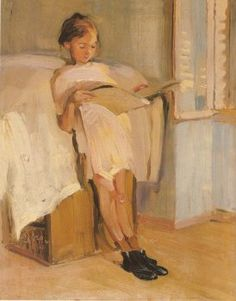 Page: Reading Artist: Nikolaos Lytras Style: Expressionism Genre: genre painting Interaction Artists Artworks English Sign in 499 Pai. Reading Art, Woman Reading, Illustrations, Illustration Art, People Reading, Books To Read For Women, Portraits, Greek Art, Art Database