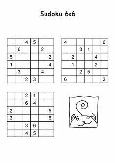 Sudoku dla dzieci Łamigłówki Sudoku Sudoku Puzzles, Computer Keyboard, 4x4, Challenges, Study, School, Therapy, Exercises, Kids