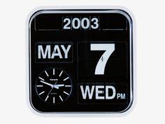 FLAP WHITES Plastic Large analogue wall clock - Clocks- HabitatUK