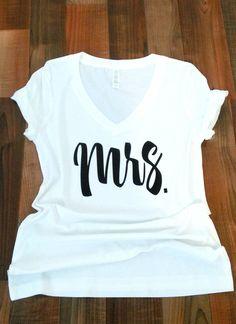 -honeymoon shirt-future mrs shirt-wedding shirt-bridal shower gift-just married shirt. Bridal Shirts, Wedding Shirts, Cricket Wedding, Wedding Bride, Wedding Ideas, Gift Wedding, Wedding Decor, Wedding Stuff, Dream Wedding
