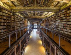 The oldest reading room at the Bodleian Library, in Oxford.