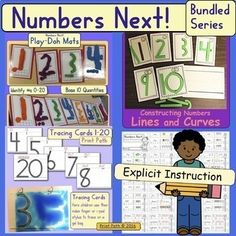 Writing Numbers Bundle: Differentiated Developmental Instruction Teaching Numbers, Writing Numbers, Writing Activities, Teacher Resources, Pre Writing, Writing Centers, Progress Monitoring, Differentiated Instruction, Hard Work And Dedication