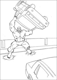 The Hulk Free Printable coloring pages for Children | Coloring ...